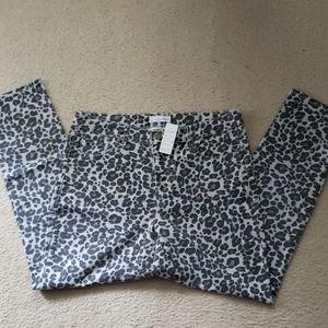 Grey/black animal print jeans